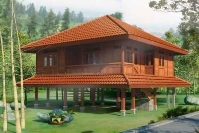 model rumah kayu orang barat